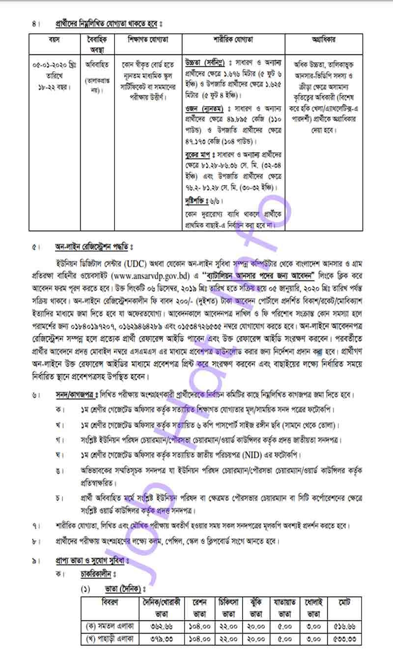 ANSAR VDP Job Circular 2019 4
