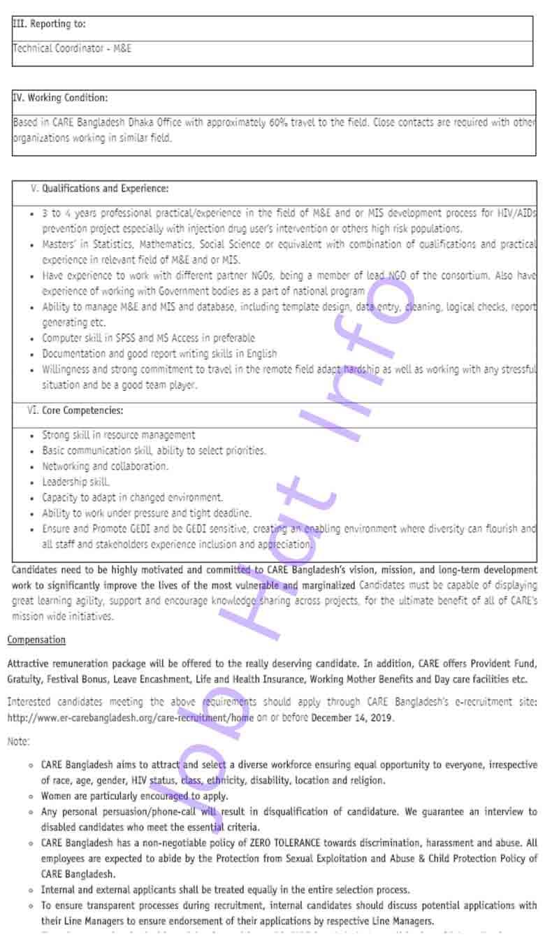 Project Development Officer Job- Care Bangladesh 3