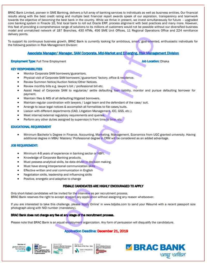 BRAC Bank Job Circular 2021 1