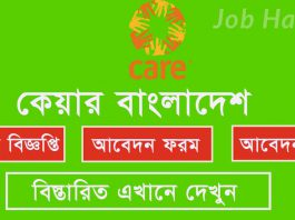 Technical Coordinator Job Circular- Care Bangladesh 2