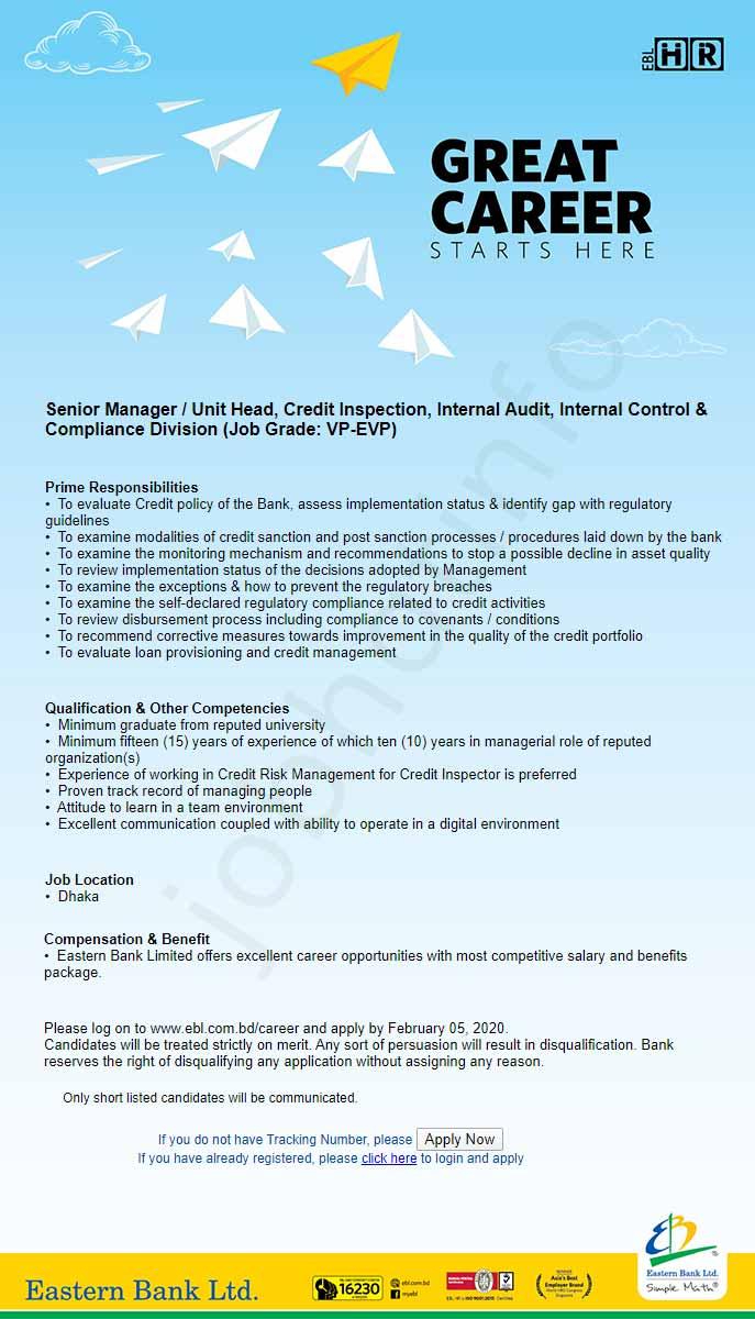 Eastern Bank Limited Job Circular-2020 1