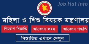 ministry of women and children affairs job