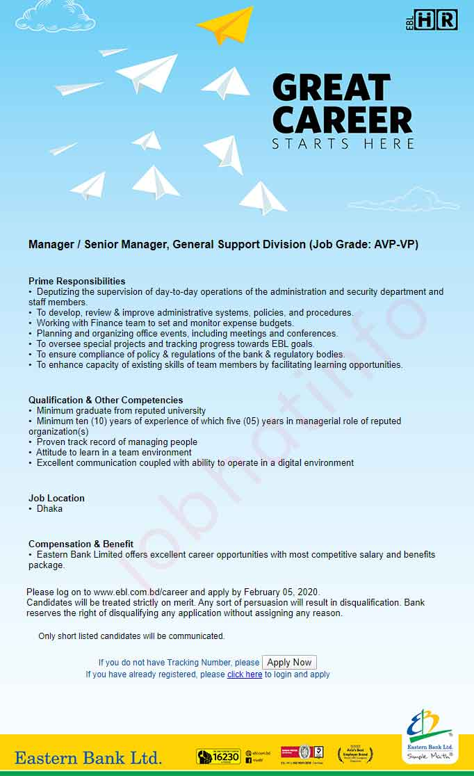 Eastern Bank Limited Job Circular 1