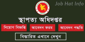 Department of Architecture Job Circular apply online 3