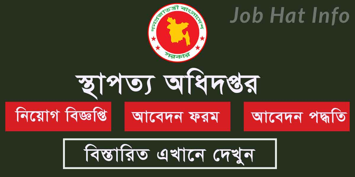 Department of Architecture Job Circular apply online 1