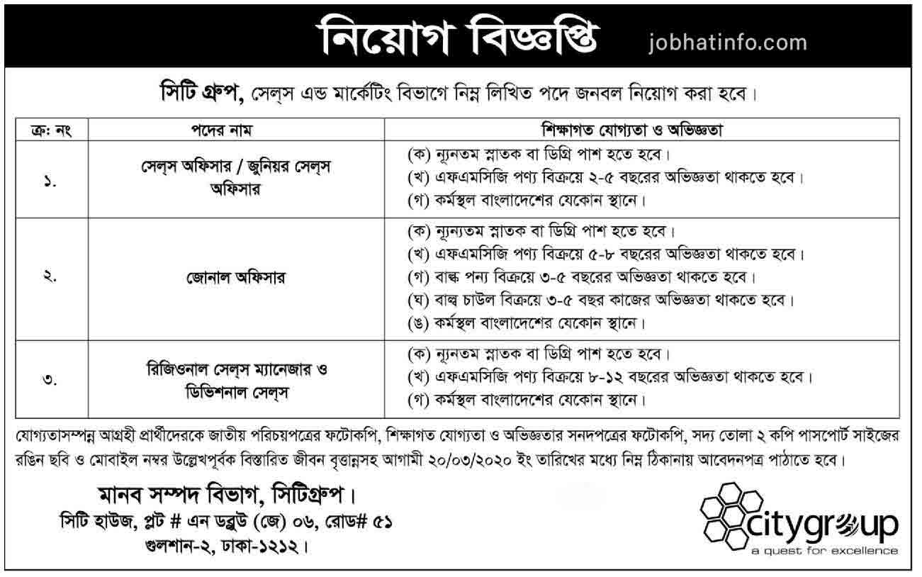 City Group Job Circular-2020 1