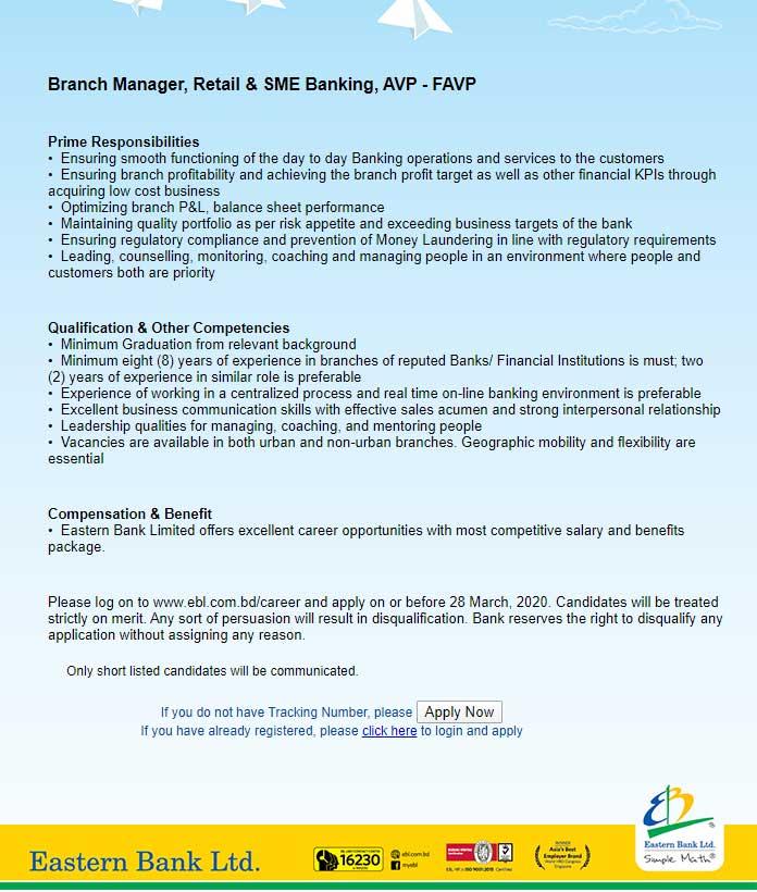 Eastern Bank Job Circular 1