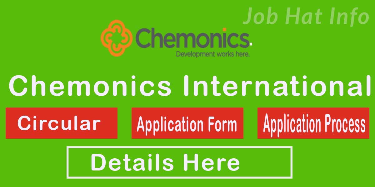 Chemonics International Job Circular- 2020 2