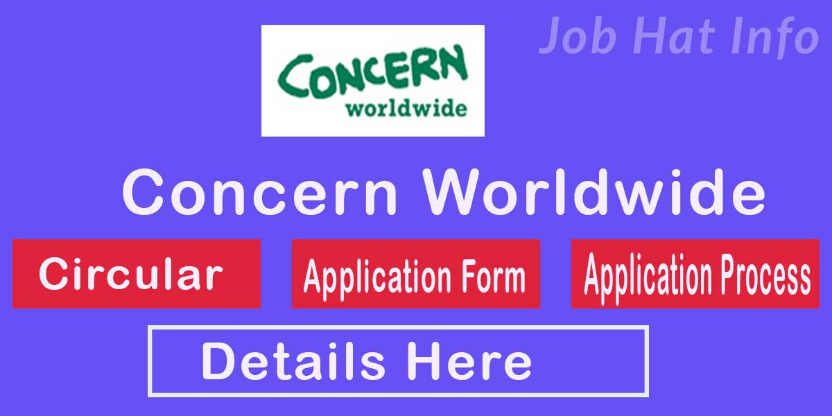 Concern Worldwide Job Circular- 2020 2