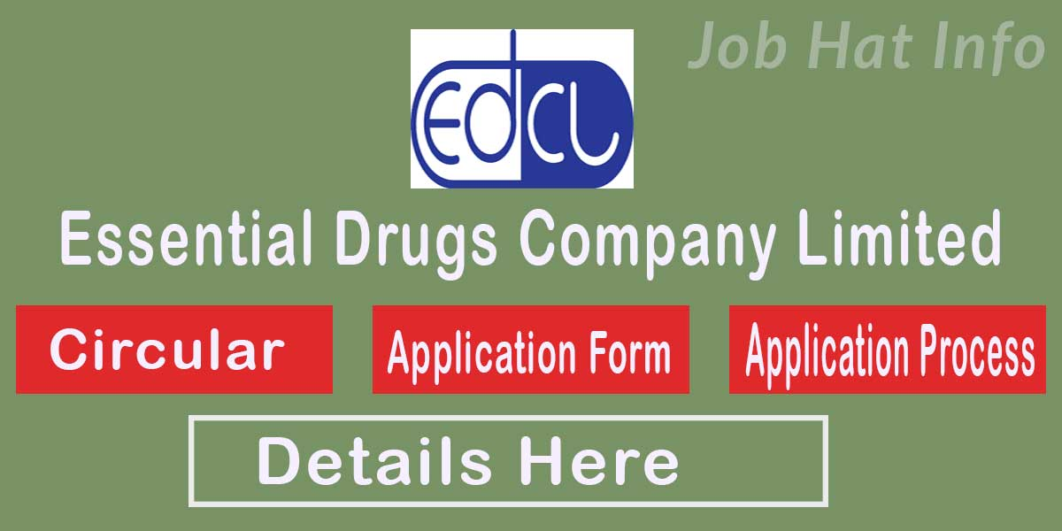 Essential Drugs Job Circular 2020 - www.edcl.gov.bd 1