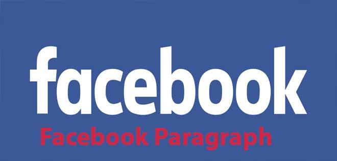 Facebook Paragraph