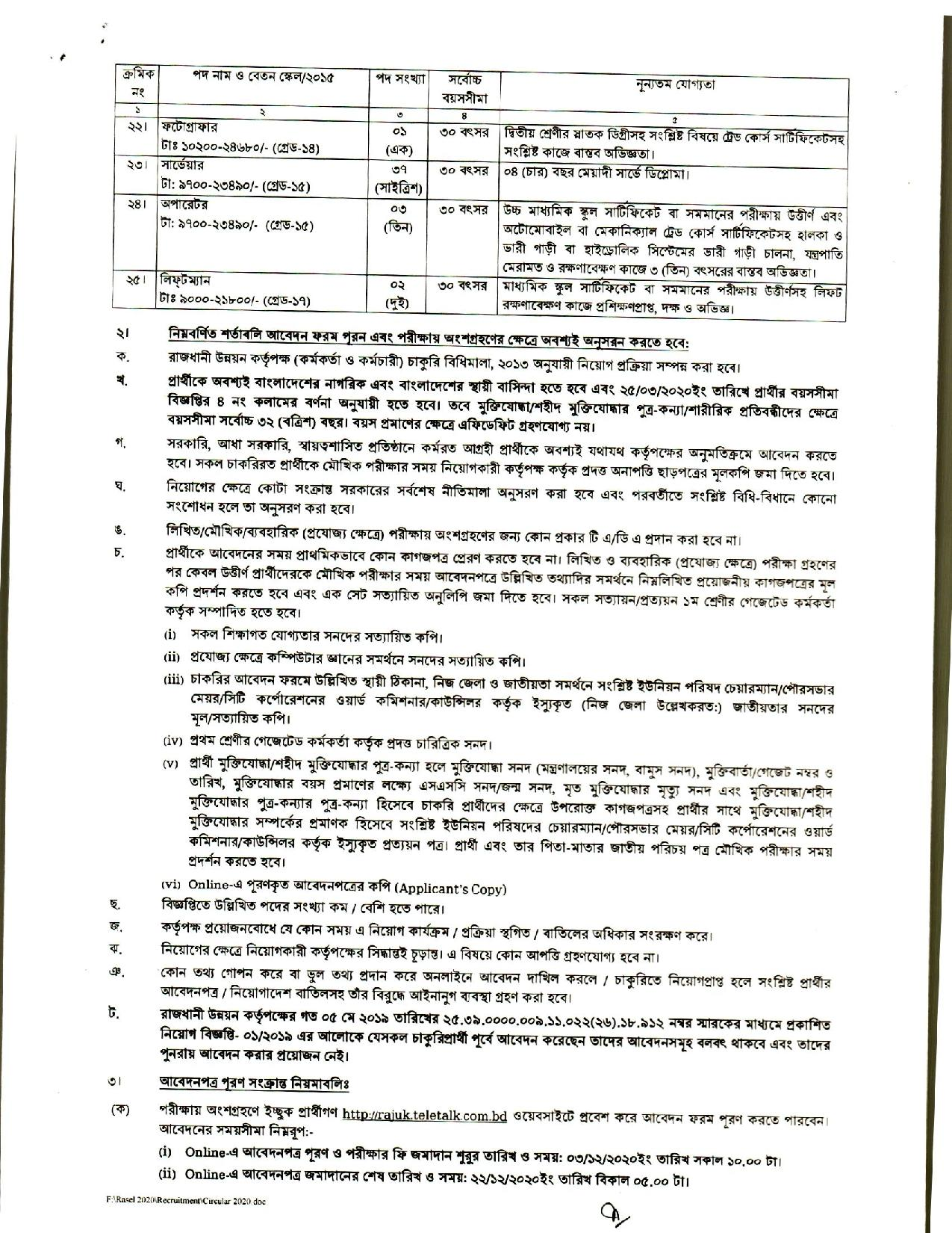 Rajuk Job Circular 2020 | Rajdhani Unnayan Kartripakkha | Apply Today 2