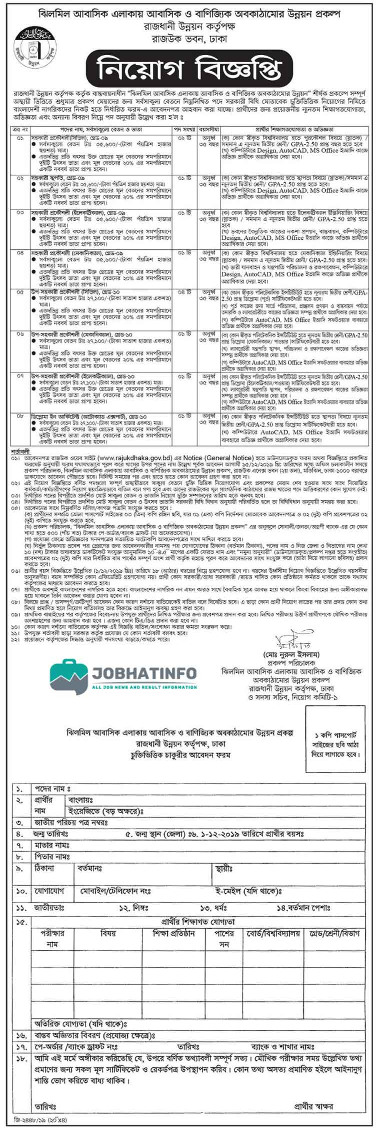 Rajuk Job Circular 2020 | Rajdhani Unnayan Kartripakkha | Apply Today 4