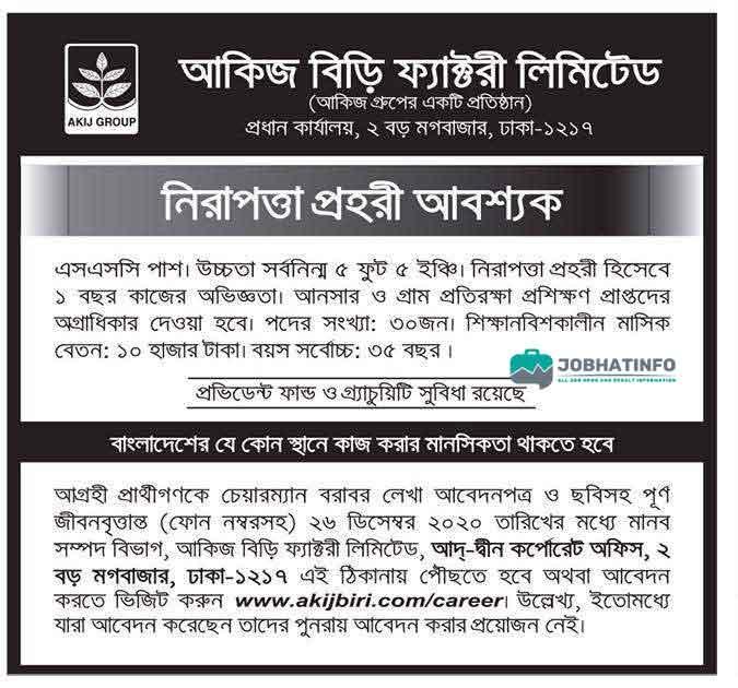 Akij Biri Job Circular 2021 Apply from Toady 1