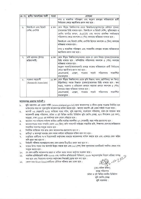 Ministry of Land Job Circular 2021 | Apply from Today | Govt Job 3