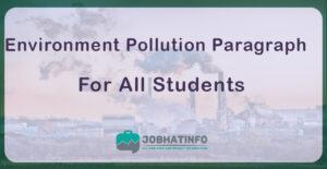Environment Pollution Paragraph